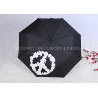 Manual Open Windproof Folding Umbrella Color Change Umbrella Tri Fold Manufactures