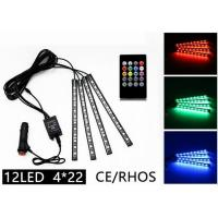 Quality Rhythm Remote Control LED Strip Lights Multicolor 12 LED CE ROHS Approved for sale