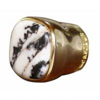 China Metal Zamac Perfume Bottle Caps Cover Unique Design Perfume Lid With Stone on sale