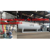 Quality customized mobile skid propane gas refilling station with 4 digital weighting for sale