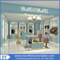 Custom nice fashion  design wooden lacquer Childrens Clothing Stores display showcase furniture  with good price Manufactures