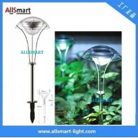 China RGB Stainless Steel Solar Spike Pathway Light Solar Stake Light Solar Mushroom Lights Solar Umbrella Lamp For Garden on sale
