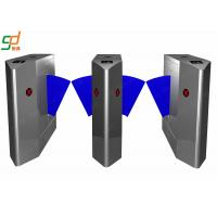 Controlled Access Flap Barrier Gate , Security Steel Half Height Turnstile Door Manufactures