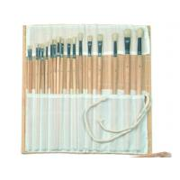 Natural Color Bamboo Brush Holder Useful Tools , Artist Brush Roll Case 41.5 * 56cm Manufactures