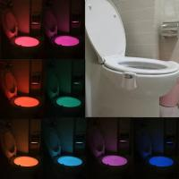 Quality 8 Colors Battery Powered Toilet Led Nightlight Motion Activated Led Night Light Bowl Lightbowl Led Lamp for sale