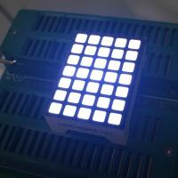 Square 5x7 Dot Matrix LED Display Ultra White Row Anode Column Cathode For Lift Indicator Manufactures
