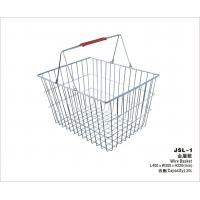Durable Mesh Handing Metal Shopping Basket With Double Handles 400x300x220mm Manufactures