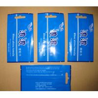 Middle Sealed Plastic Bag Disposable Wet Wipes Packaging , Blue / Green Manufactures
