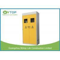 Metal Laboratory Storage Cabinet For Gas Cylinder with Option Alarm System Manufactures