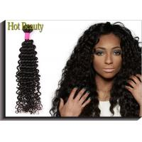 10 inch - 32 inch Brazilian Remy Human Hair Black Color Deep Wave Manufactures
