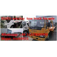 Quality Japan brand ISUZU 4*2 LHD 4tons wrecker truck for sale, best price factory sale for sale