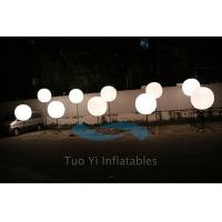 190T Ripstop White Large Inflatable Ball LED Light Pole Balloons Manufactures