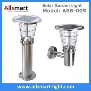 Stainless steel H60cm 1W landscaping ground mounting lights solar garden lawn lights solar sensor lights Manufactures