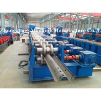312 W Section / Highway Guardrail Forming Machine 3.2mm Thickness Gearbox Control Manufactures