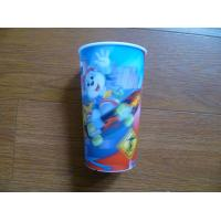 China PLASTIC LENTICULAR OEM Children Style Cartoon Drinking PP 3D Lenticular Cup printing factory on sale