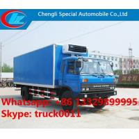 hot sale dongfeng 153 cummins 190hp 10ton-15ton cold room truck, dongfeng 15tons freezer van truck for frozen seafood Manufactures