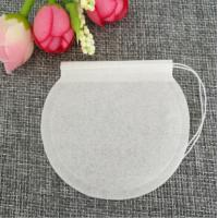 Buy cheap E1008 Empty biodegradable round tea bag with string for wholesale from wholesalers