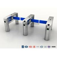 China TCP / IP Security Electro Lock Door Swing Pedestrian Barrier Gate Turnstyle Fastlane Glass on sale