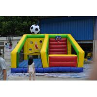 Commercial Tarpaulin Inflatable Sports Games , Football Shooting Machine Manufactures