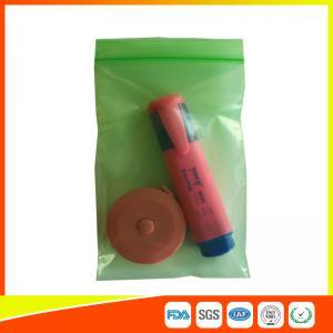 Plastic PE Packing Ziplock Bags Antistatic , Air Tight Zip Lock Bags Custom Printed Manufactures