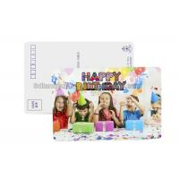 Birthday Card 3D Lenticular Postcard Plastic Material / 3d Animal Pictures Manufactures