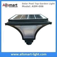 Quality Outdoor Solar Post Top Garden Lights Bulb Garden Pole Lamp Singe Head Post Lamp with 20W Solar Panel for sale