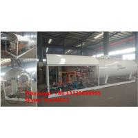 China 5tons mobile skid lpg gas plant for sale, 2500gallons skid-mounted propane gas refilling station for gas canister Manufactures