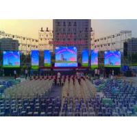 Full Color Led Wall Screen Display Outdoor , Led Video Wall Panels 10mm Dot Pitch Manufactures