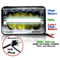 5 Inch 45W LED Headlights Jeep Wrangler Hi / Low Beam Square Waterproof Manufactures