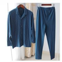 Men's cotton pajamas recreational leisure wear thin with long sleeve homewear Manufactures