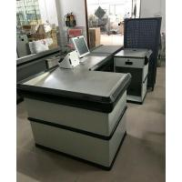 China Automatic Electric Checkout Counter With Conveyor Belt / Retail Cash Counter on sale