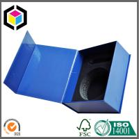 Glossy Lamination Blue Color Printing Rigid Paper Gift Packaging Box with Magnet Closure Manufactures