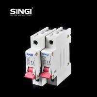 Quality Breaking capacity reach to 10000 voltage 230v/400V 20a 50HZ single pole small for sale