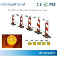Dia. 200mm Solar LED Sequencial Flashing Barricade Lights Synchronized Guidance System Manufactures