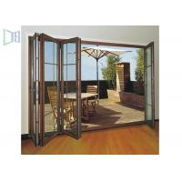 Clean Contemporary Aluminium Folding Exterior Door With Double Tempered Glass Manufactures