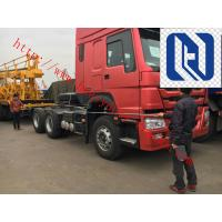 Red Prime Mover Truck HOWO 6 x 4 340HP Tractor Trailer With Wabco System, 10 Wheels, 6 Wheels, LHD/RHD Manufactures