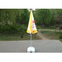 Yellow And White Sun Beach Umbrella Uv Protection With Screen Printed Manufactures