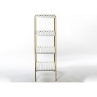 Bamboo And MDF Height 110cm Multi Tier Shelf For Toiletries Manufactures