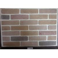 Quality Wide Faux Stone Veneer , Exterior Faux Brick Wall Panels Cement Material for sale
