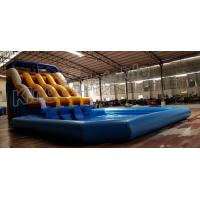Quality Durable PVC Commercial Inflatable Water Slides With Swimming Pool for sale