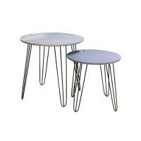 38cm High 10KG MDF Side Tables With Metal Legs Manufactures