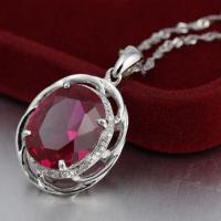 Silver Pendant with CZ Stone Manufactures