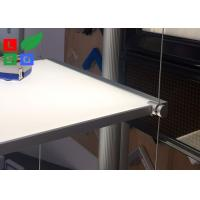 Quality Suspension Type LED Shelf Lighting 100% Pure Acrylic With Steel Power Wire For for sale