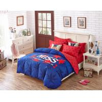 China 250T Dorm Bedding Sets And 100% Cotton Fabric With Printed Design on sale