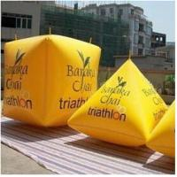 Inflatable Swim Buoy In Cube Shape , Marker Buoys Manufactures