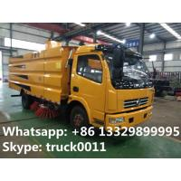 dongfeng 4*2 LHD 120Hp diesel street sweeper truck with factory price, hot sale best price dongfeng road sweeping truck Manufactures