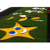 Decorative Healthy Coloured Artificial Grass False Turf Long Life Expectance Manufactures