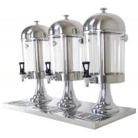 3-Head Beverage Dispenser 3 x 8.0Ltr Polycarbonate Container Stainless Steel Domed Lid Drip Free Spout Manufactures