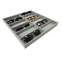 Buy cheap Soft Velvet Gray 12  Grids Of Eyeglasses And Sunglasses Display Tray Case from wholesalers