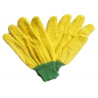 Yellow Warm Fleece Gardening Working Gloves With Knit Wrist For Winter Use